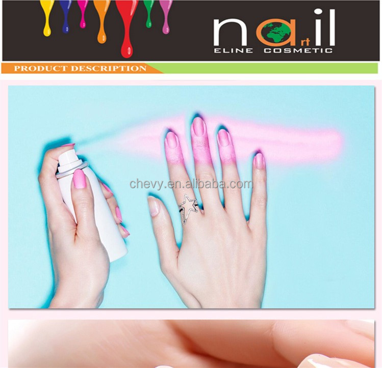 white color spray nail polish with clear nail polish spray on nail polish newest from factory