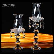 2017 New Design Luxuriant Tall Crystal Glass Candle Holder for sale