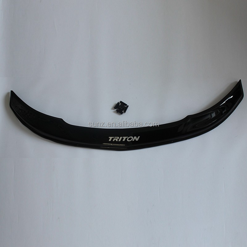 Acrylic sheet front Guard with fittings for NEW <strong>MITSUBISHI</strong> <strong>L200</strong> TRITON 2015 Bonnet Guard black mud guards car accessories