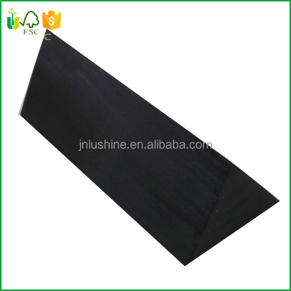 Black Painting Wood Carving Blocks Triangle Wood Craft