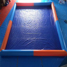 2016 pvc dark blue best selling inflatable rectangular pools