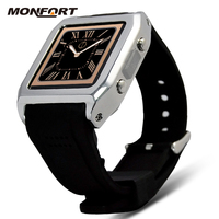 2015 Wholesale hand watch mobile phone price waterproof android gsm camera watch phone
