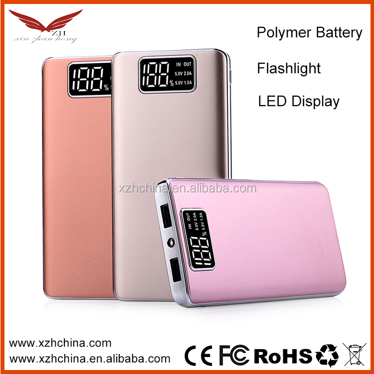 Shenzhen new products Mobile Power Supply slim Power Bank 10000mah