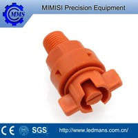 MMS pp flat fan pattern water spray nozzle plastic jet nozzle,low pressure washer misting nozzle semiconductor