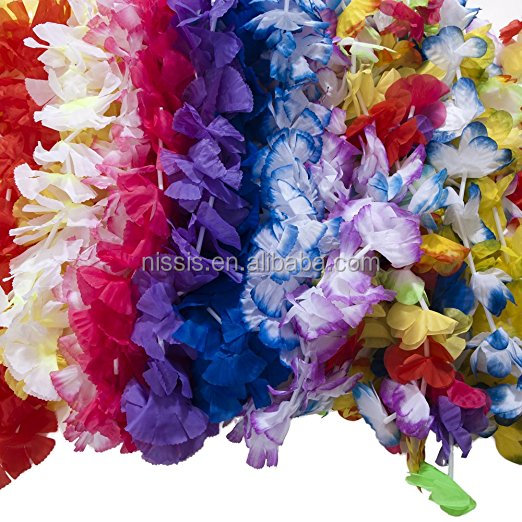 Decorative Flowers & Wreaths Type and A variety of festivals Occasion Hawaiian Flower Lei party Lei Hawaiian Leis
