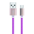 New design rainbow colorful mobile charge android data cable