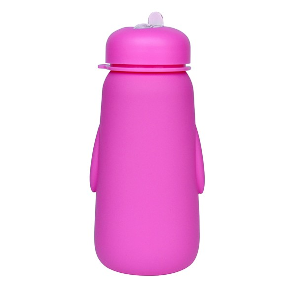 550ml lightweight silicon school kids water bottle