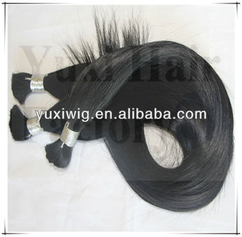 Top quality 100% human bulk human hair for braiding