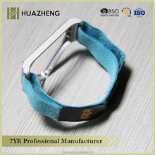 Rubber hook and loop elastic band with logo for sport