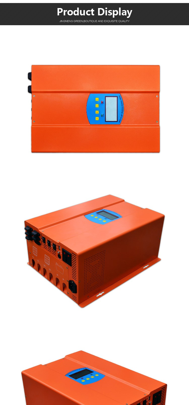 1500W 12V/24V/48V New design solar inverter with built-in charge controller hybrid fuction solar panels for home