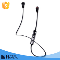 Ultra light hands-free bluetooth wireless ear bud headset wireless microphone best headset