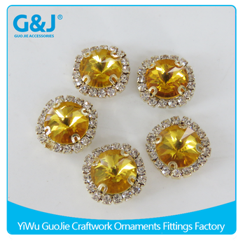 guojie brand Wholesale Golden color for Garments Accessories rhinestone crystal