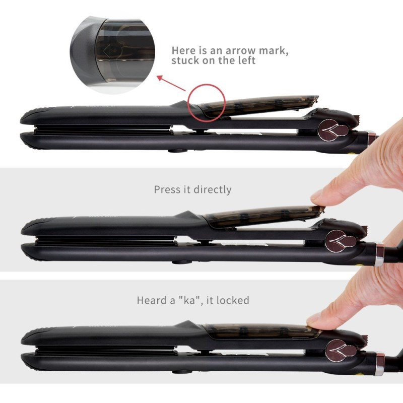 2018 Hot Sell Flat Iron Custom Professional Tourmaline Fast Ceramic Steam Hair Straightening
