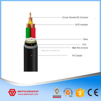 Low voltage PVC XLPE insulated 4x240mm2 4x300mm2 Armored Power Cable