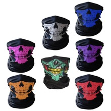 YADU Ghost Scarf Black Skull Half Mask Skeleton Motorcycle Scary Horror Party Halloween Gift Half Masked Face Mask