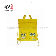 New style rice non woven package drawstring printed bag