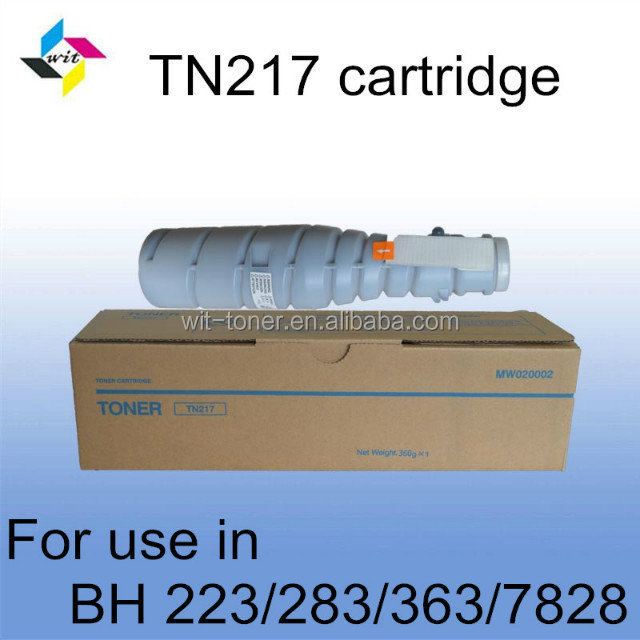 Compatible black toner cartridge for Konica Minolta Bizhub 223 TN217