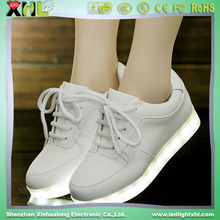 led usb charge flashing shoes for adults
