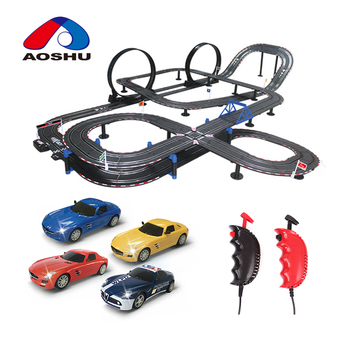 Kids love high quality hobbie electric diy race track 1:43 scale rc car track by wire control