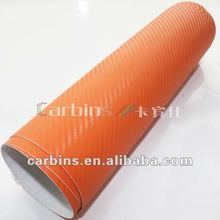 3D carbon fiber vinyl film, 3D sticker for car, orange carbon fiber vinyl