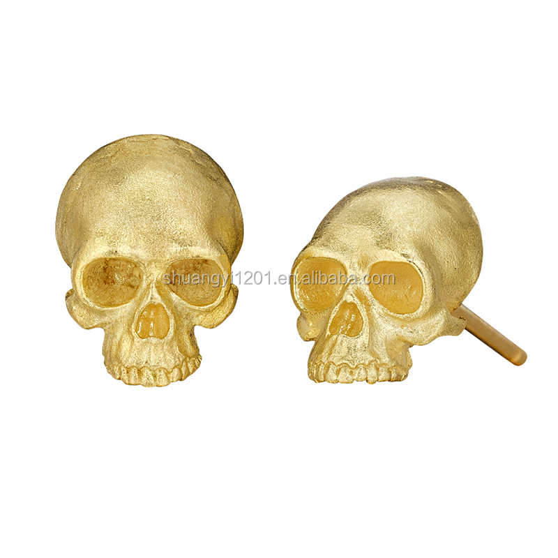 Custom Gold Skull Earrings Stud Earrings Sugar Skull Earring