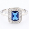 Luxury Created Blue Sapphire Cocktail Ring