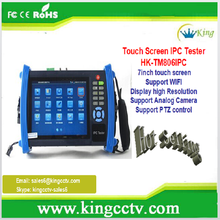 Intelligent CCTV Accessory HK-TM806IPC 7 Inches Touch Screen CCTV IP Camera Tester