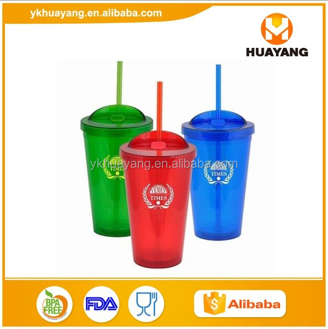 wholesale 16oz double wall plastic tumbler mug customzied (HY-E021)