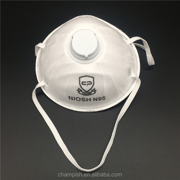 Dust mask n95 with valve and NIOSH approved