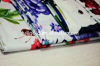 2016 Hot sale New Design Flower Knit Printed 75D*20D 100%Polyester Silk Chiffon Fabric In Shaoxing