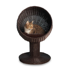 Ball shaped stylish unique cat lounge furniture wicker luxury pet bed