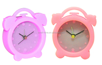 Chrismas gift double bell silicon alarm clock S1101 meet CE and Rohs best for Chrismas gift