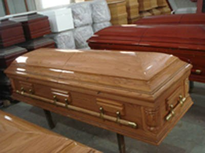 Cheap price Funeral coffin European style coffins wood caskets for sale