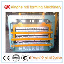 triple deck corrugated metal sheet roll forming machine, roof tile three deck roll forming machine