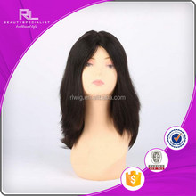 Contemporary latest human hair kosher wigs band fall