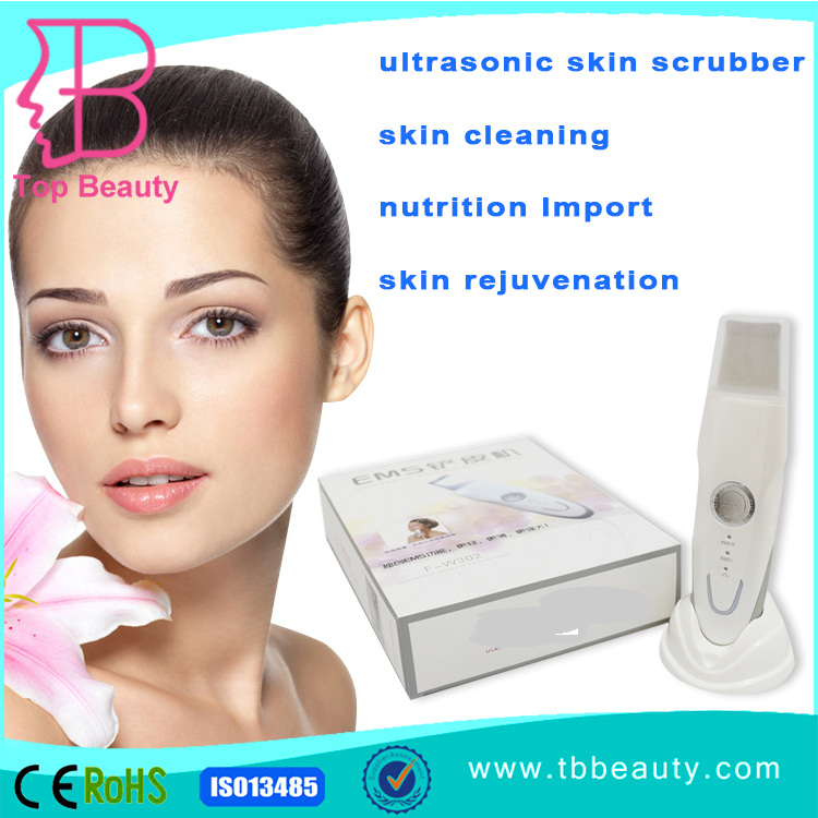 High class USB rechargeable personal care electric peeling ultrasonic face skin scrubber