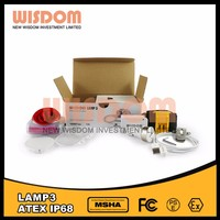 Ergonomic design ,Small offset lamp 3 hard hat lamps