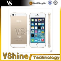 for iphone 5 5s 24k gold plating back cover, for iphone 5 5s color housing