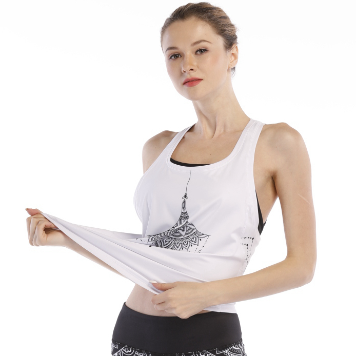 fashionable athletic quick drying exercise loose sports tank top