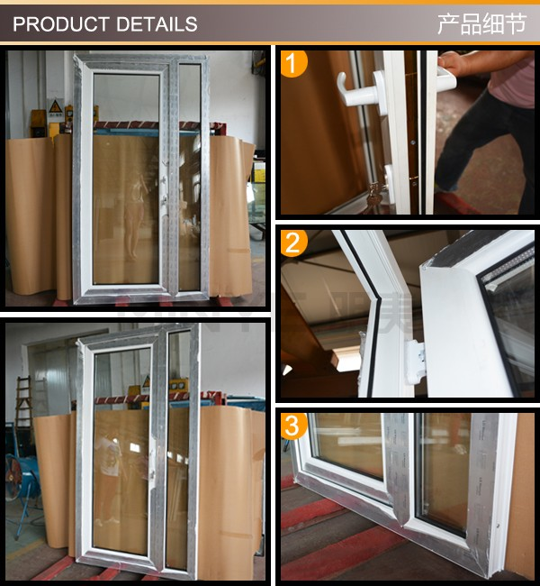Commercial Fixed Windows : Commercial upvc casement door and fixed window with