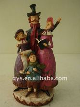 carving family figurine polyresin crafts