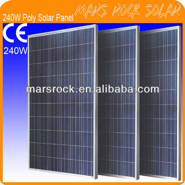 240W 30V Poly Crystalline Silicon PV Solar Panel Module with 60 Cells, CE, TUV, RoHS, UL Certificates