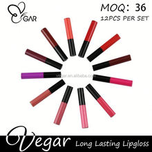 tube with metal applicator for lipgloss NO LOGO!Multicolor Matte lip cream , matte lipstick , matte lipgloss