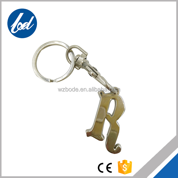 Promotional Cheap Zinc Mini Running Shoe Keychain