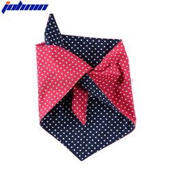 OEM Cotton/Polyester Double Layer Customized Logo Printed Triangle Dog Bandana For Pets