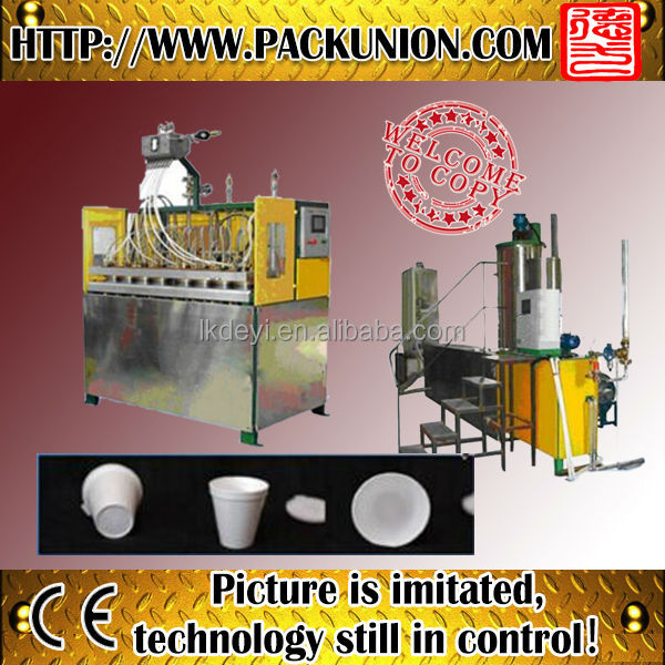 Hot melt plastic eps bowl making machine