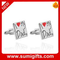 I love may dad Cufflinks for Father's Day Gift Promotion,China Manufacturer with cheap price