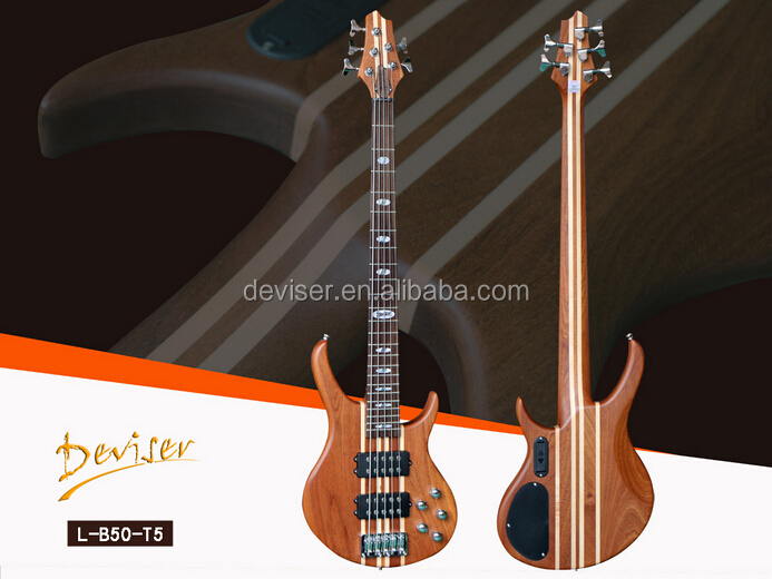 5 Strings Sapele Maple Wood Electric Bass guitar