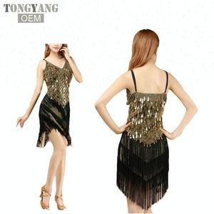 8d0d9da181e TONGYANG New arrivals sexy fringe latin dance dress for girls cheap tassel  latin dance skirt on