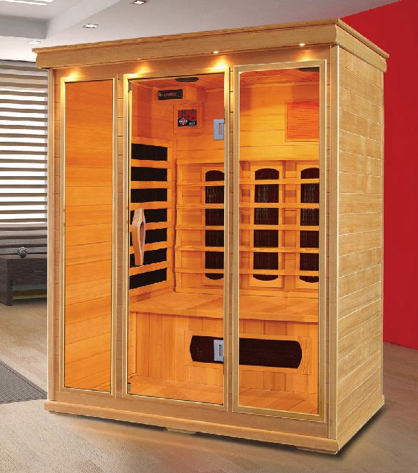 home suana room 3 persons capacity carbon heater infrared sauna